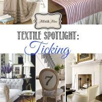 Textile Spotlight: Ticking Fabric and Its Home Decor Uses from Tidbits&Twine