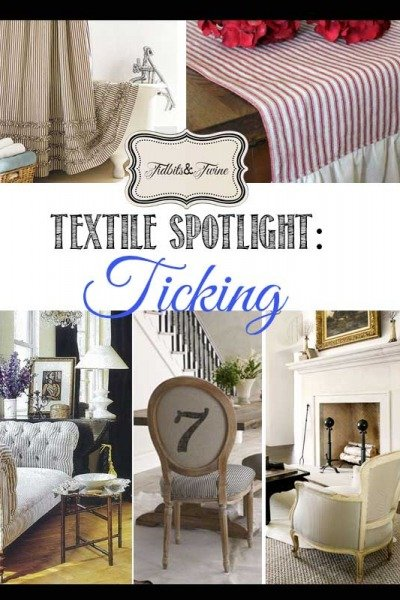 Textile Spotlight: The Ticking Trend