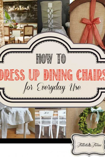 Dressing Up Dining Chairs {for Everyday Use}