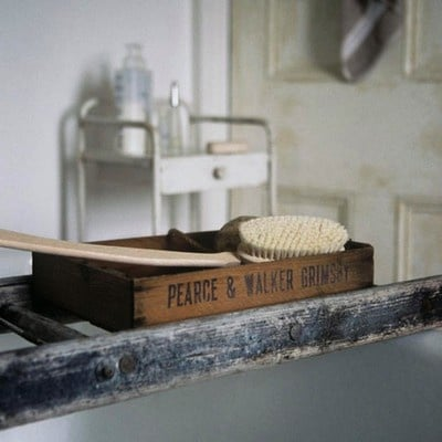 Vintage Ladder Bath Caddy