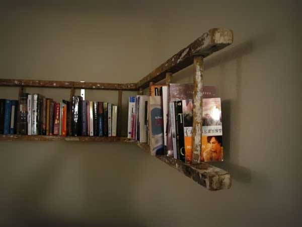 Vintage Ladder Bookshelf