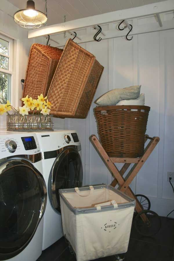 Vintage Ladder Laundry