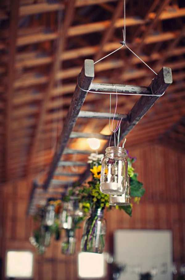 How To Decorate With Vintage Ladders 20 Ways To Inspire