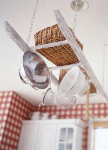 Vintage Ladder Pot Rack