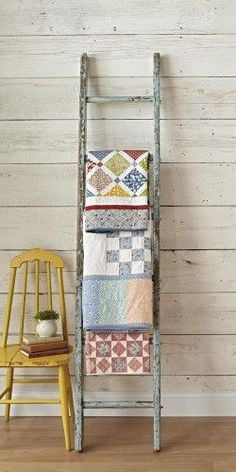 Vintage Ladder Quilt Rack