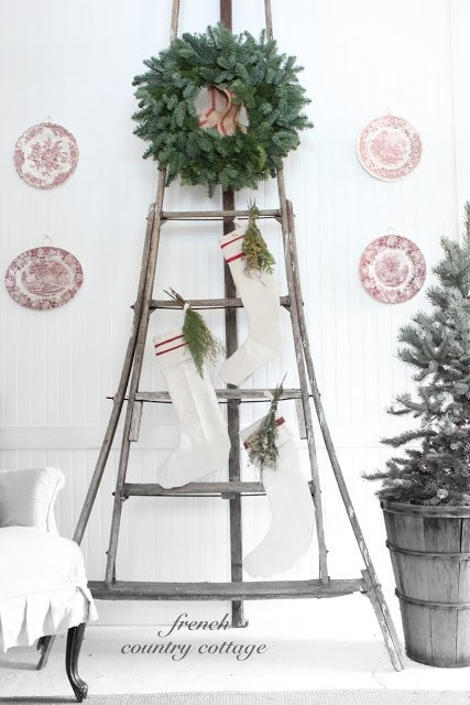 Vintage Ladder Wreath