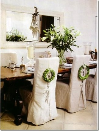 Wreath and Corset on Chairs