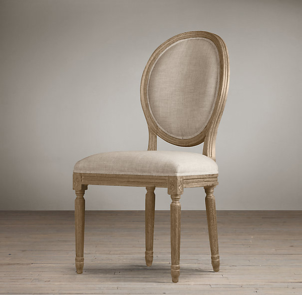Restoration Hardware Vintage French Round Side Chair