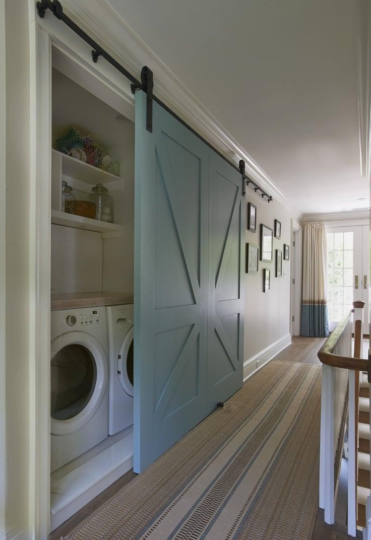 TIDBITS & TWINE Hallway Laundry Barn Door