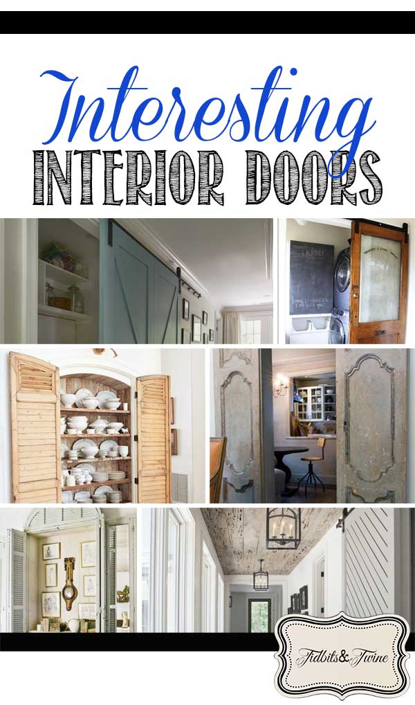 Tons of creative interior door ideas here for every room of your home!