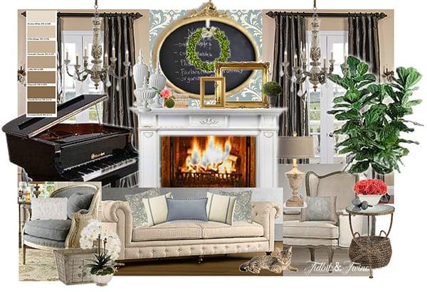TIDBITS & TWINE Living Room Olioboard