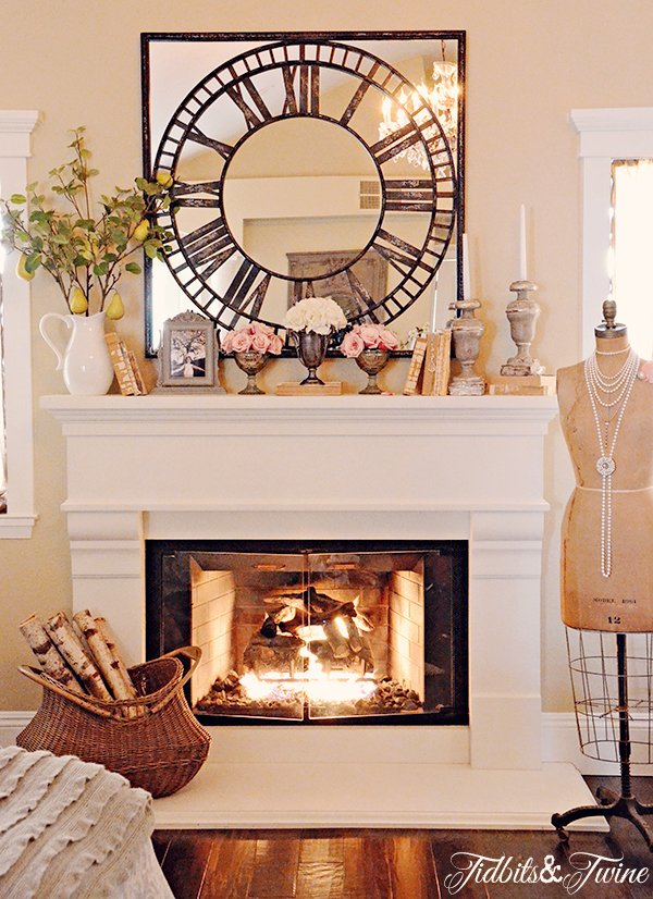 Tidbits&Twine Master Bedroom Mantel