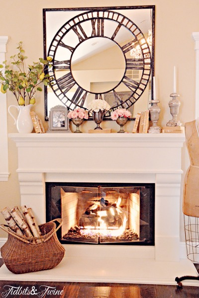 Styling My Bedroom Mantel