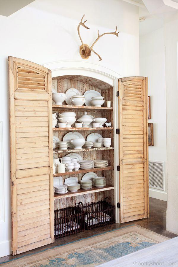 Tidbits&Twine Ironstone Pantry - Creative Interior Door Ideas