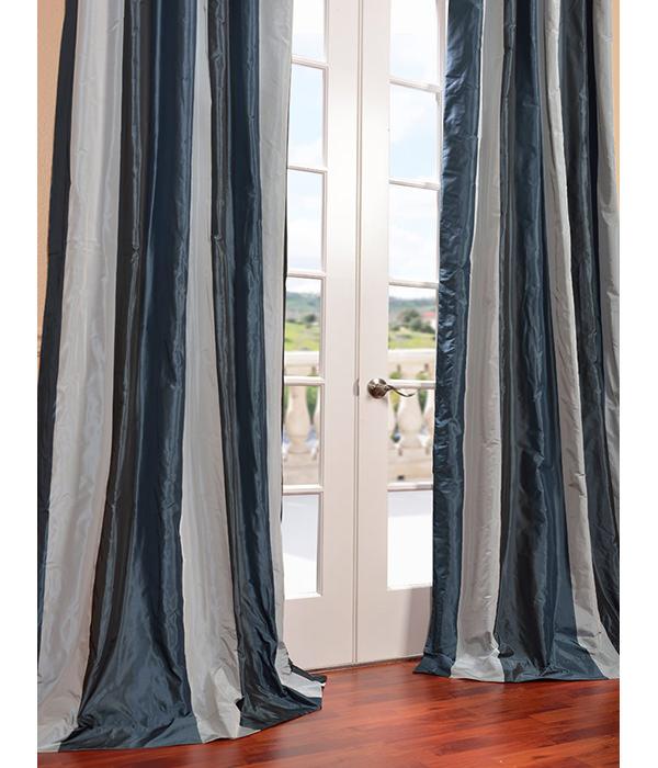 {Park Avenue Silk Taffeta Stripe Curtain from Half Price Drapes}