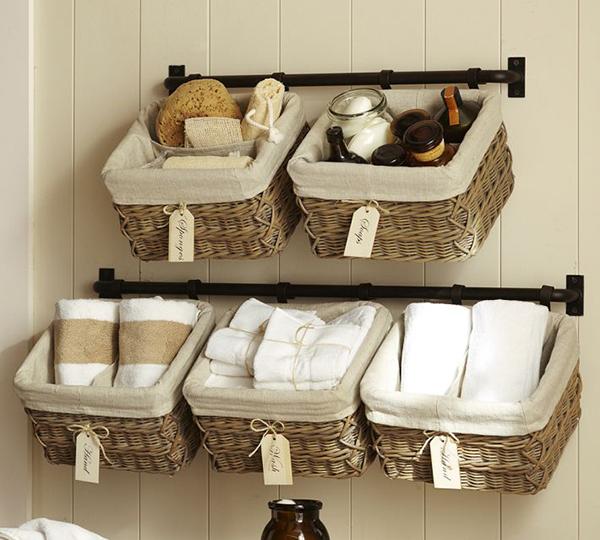 Pottery Barn Hanging Wall Baskets