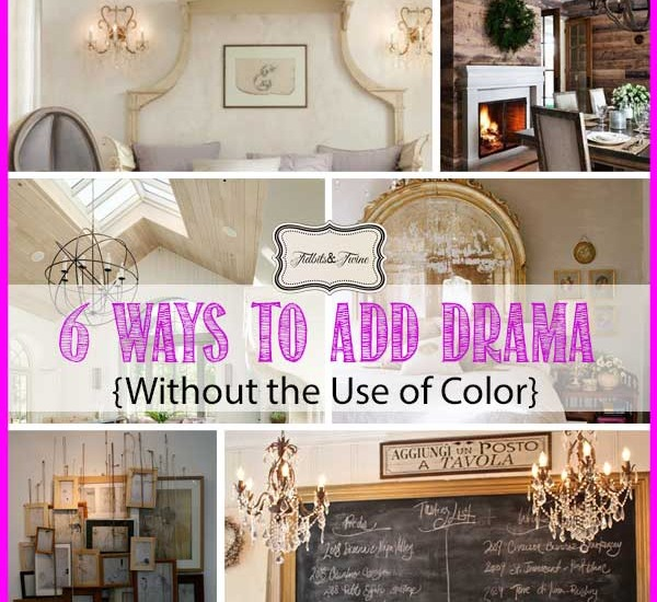 bold decorating ideas without using color