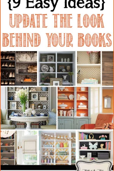 Update the Look Behind Your Books {9 Easy Ideas}