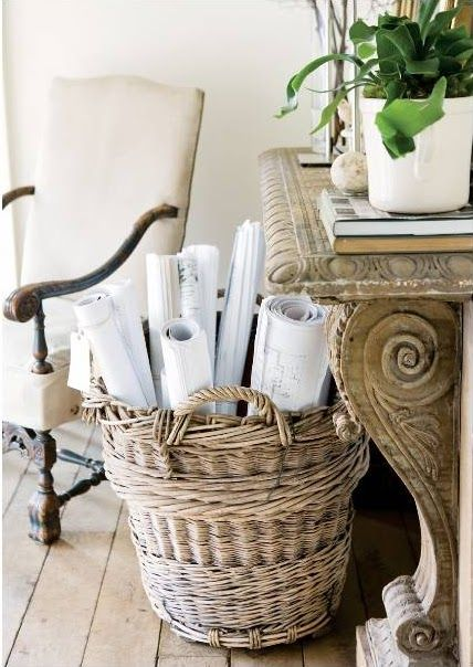 TIDBITS & TWINE Basket with Maps
