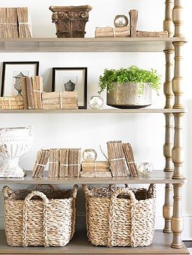 TIDBITS & TWINE Bookcase with Basket