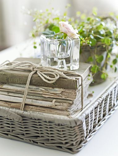 Tidbits Twine Coffee Table Basket