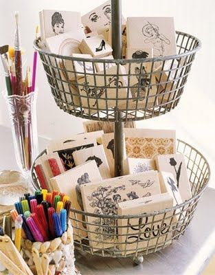 TIDBITS & TWINE Craft Room Wire Basket