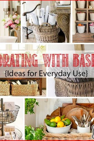 Decorating with Baskets {18 Everyday Ideas}