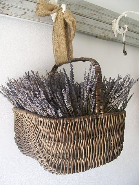 TIDBITS & TWINE Dried Lavendar Basket