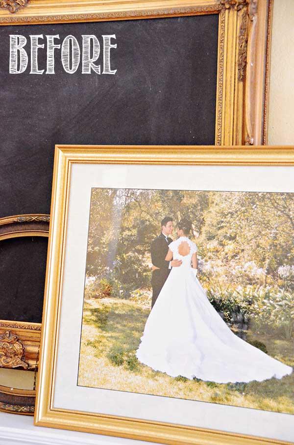TIDBITS&TWINE-DIY-Wedding-Frame-BEFORE