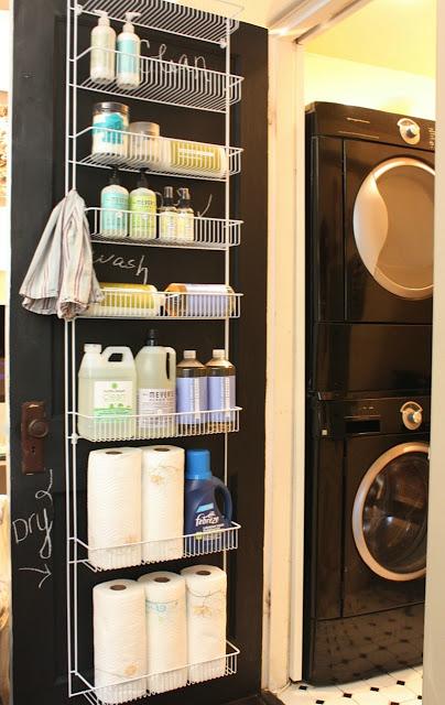 laundry room door storage