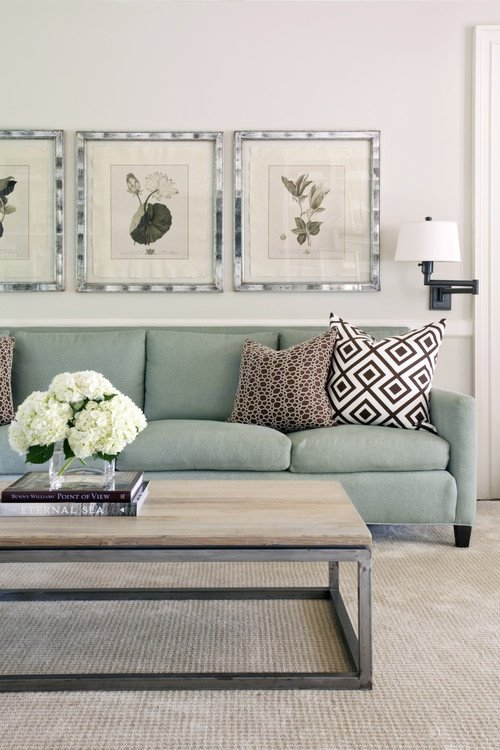 6 approaches to styling a coffee table tidbits twine Over the sofa wall decor ideas