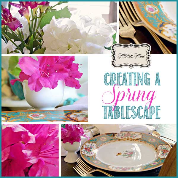 A Pink and Blue Spring Tablescape
