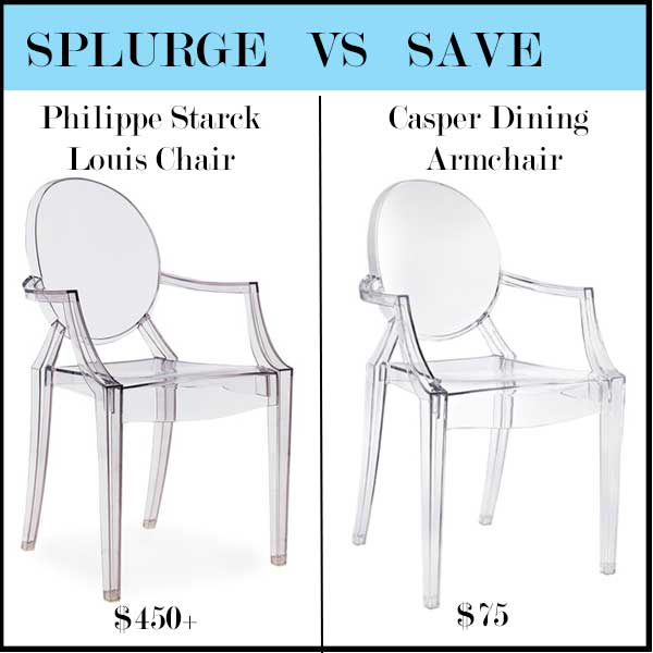 Comparison of ghost chairs Philippe Starck and Casper