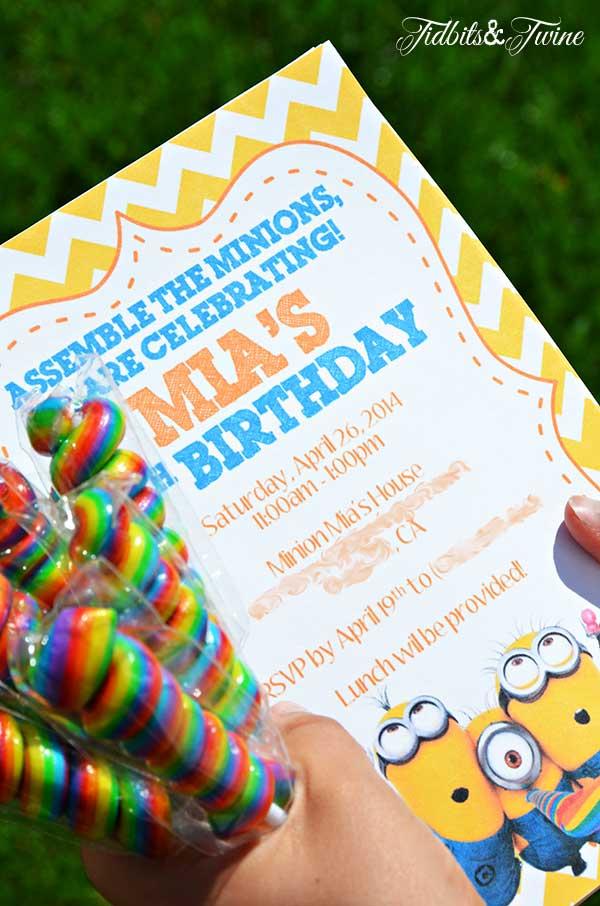 TIDBITS TWINE Minion Birthday Party