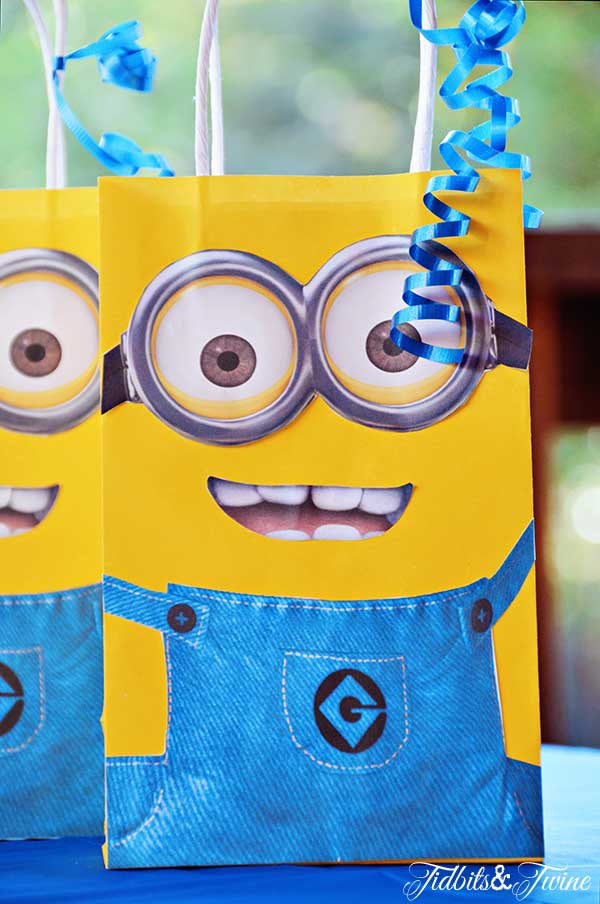 TIDBITS TWINE Minion Goodie Bags Minion Mayhem Birthday Party