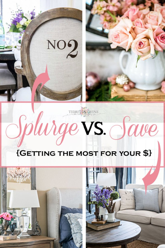 Splurge vs Save on Home Decor photo collage