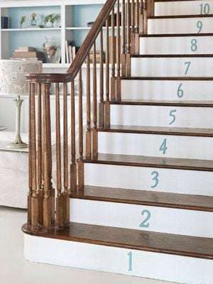 Blue Numbered Risers