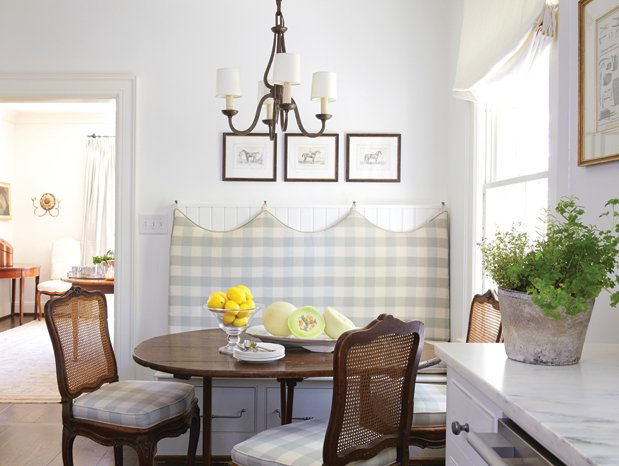 Buffalo Check Banquette