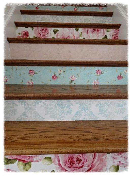 Cottage Wallpapered Risers