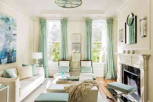 how to make your room look bigger with curtains