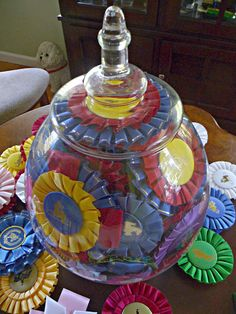 Apothecary Jar with Ribbons