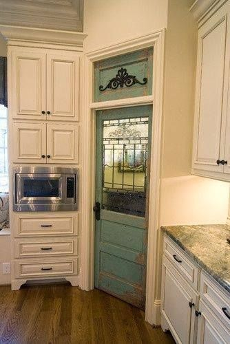 Blue Pantry Door Interior Doors: From Drab to Dramatic!