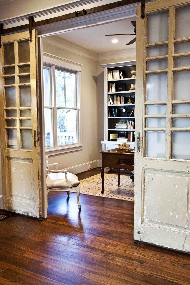 Cedar Hill Farmhouse Office Interior Doors: From Drab to Dramatic!