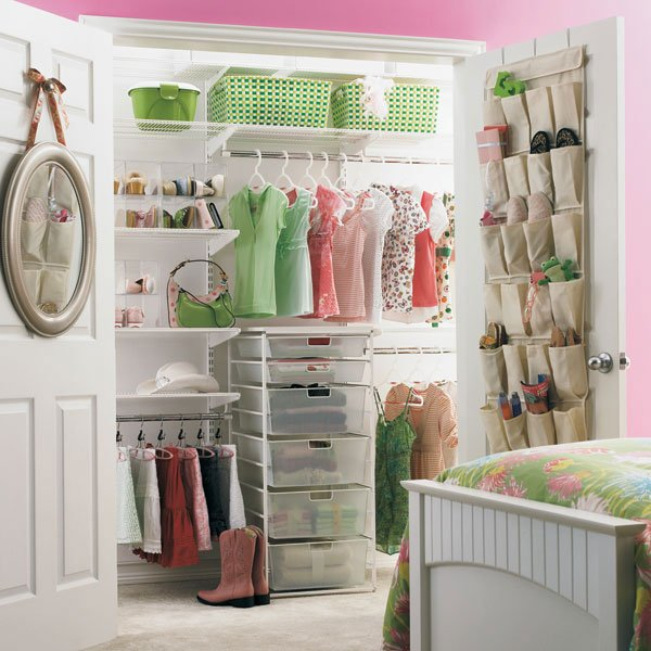 Girls Closet with Light