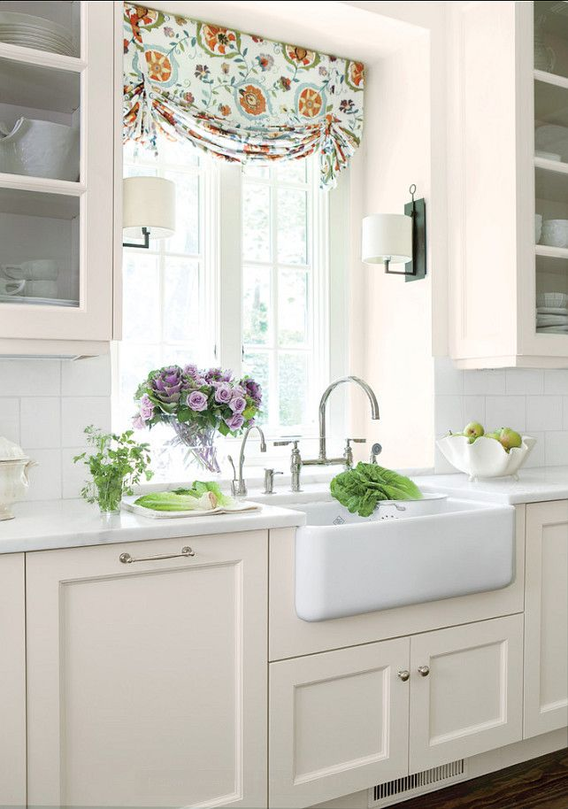 8 ways to dress up the kitchen window without using a curtain tidbits twine - Kitchen curtains pinterest ...