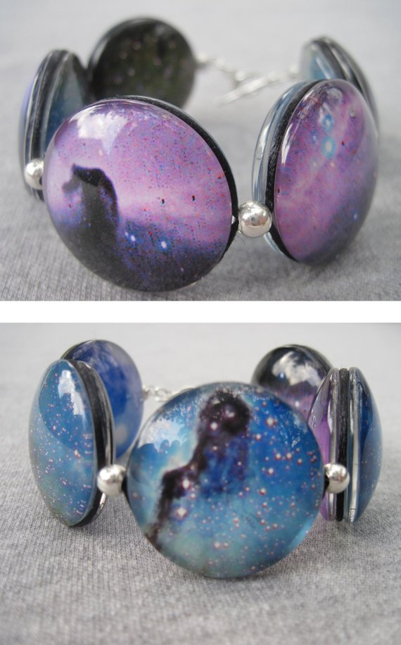 {Horsehead and Elephant Trunk Nebulae bracelet from Lost in Space Jewelry}