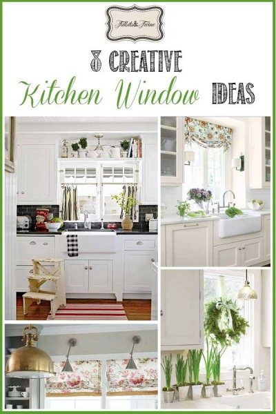 8 Ways to Dress Up the Kitchen Window {without using a curtain}