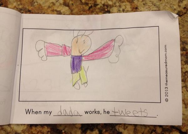 {A page from my daughter's Father's Day Book that she made in Kindergarten}