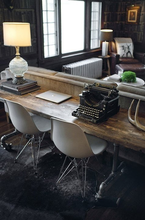 The writing desk a stylish solution tidbits twine - Console table a manger ...
