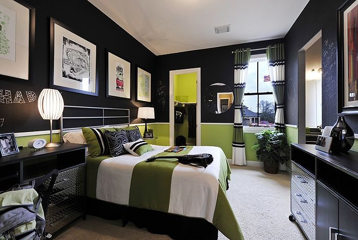 15 amazing tween teen boy bedrooms tidbits twine Green and black bedroom